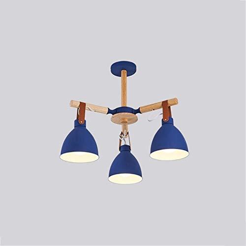Lyuez massief houten creatief woonkamer, eenvoudige moderne kunst kroonluchter riem restaurant decoratieve kandelaar 3 wit monochromatische lichtbron slaapkamer lichten