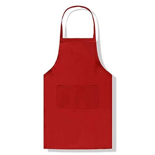 Avental de cozinha Blusea Pure Color avental grande bolso adulto acessórios de cozinha 1 peça