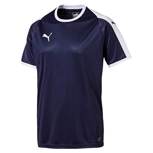 Puma Herren Liga Jersey, blau (Peacoat/Puma White), 3XL