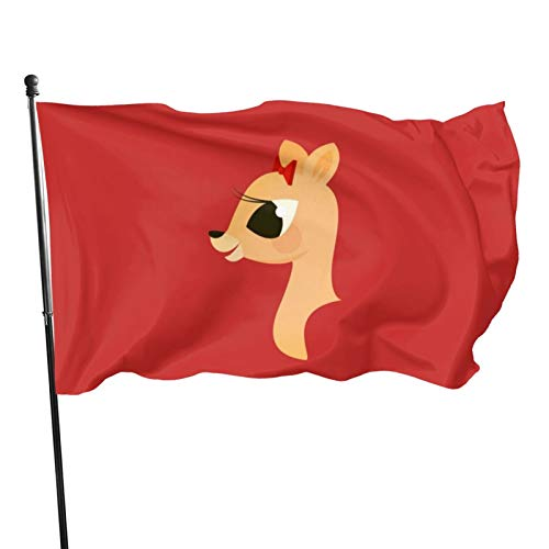N/F Rudolph The Red-Nosed Reindeer - Clarice Flag Banner Flags,3 * 5ft