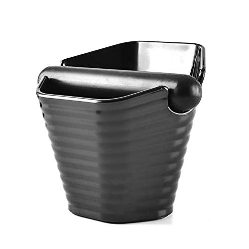 JLKDF Caja de Golpe de café, contenedor de posos de café Antideslizante, para Accesorios de Herramientas de máquina de café, Base Antideslizante, Fuerte y Resistente (B)