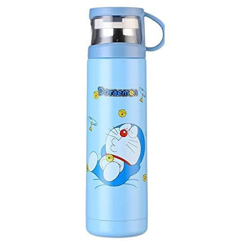 350/500 ml Cartoon Double Wall Edelstahl-Thermosflasche Wasser Vacuum Netter Thermo-Becher for Kinder Paar Geschenk, Minions, 500ml kshu (Color : Doraemon, Size : 350ml)