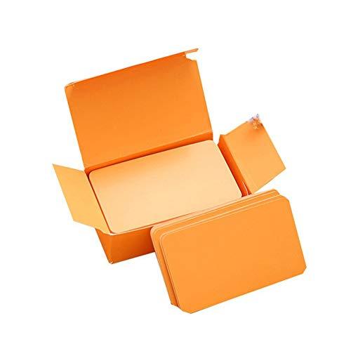 Wonque Tarjetas de papel kraft más gruesas para mensajes, tarjetas de visita, tarjeta de regalo, 8 colores, 100 unidades por caja
