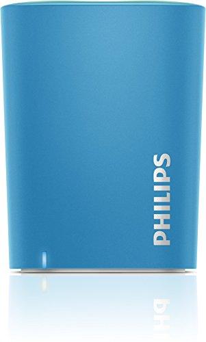 Philips BT100 - Altavoz portátil Bluetooth, azul