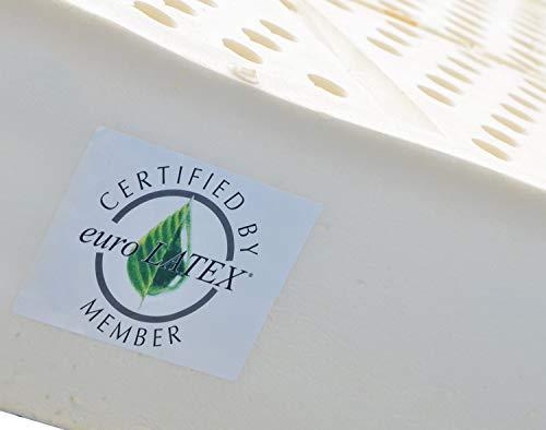 Marcapiuma - Matelas Latex 160x200 haut 20 cm - SEVENLIFE 20 - Orthopédique 7 zones H2 Moyen Revêtement SILVER Amovible Antiacarien Anallergique respirant Lavable Certification euroLATEX Made in Italy