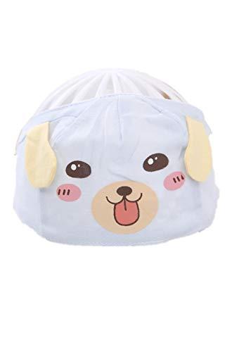 YANHUIGANG Chapeau de Soleil Chapeau de Plage Summer Cute Super Cute Thin cotton-38-43cm_One Size_Puppy-Blue
