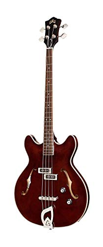 GUILD Starfire 4 String Acoustic-Electric Bass Guitar, Right, Vintage Walnut (379-1950-869)