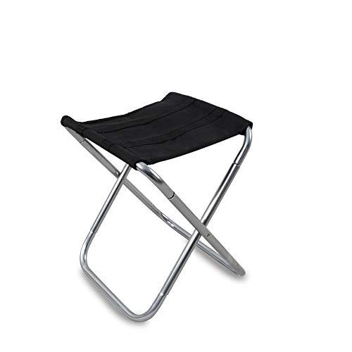 QAZXS Draagbare opvouwbare campingstoel, kleine visstoel, lichte viskruk met stabiele platte voeten, ideaal voor kampeervissen picknick tuinbarbecue
