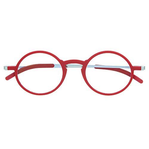 DIDINSKY Gafas de Lectura Graduadas Ultra Delgadas para Hombre y Mujer. Gafas de Presbicia muy Ligeras con Lentes con Protección Luz Azul. Ferrari +1.0 - MACBA ROUND