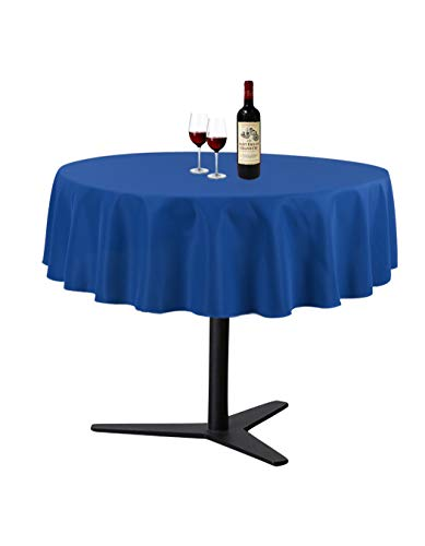 Waysle Royal Blue 70 Inch Round Tablecloth, Washable Polyester Table Cover, for Wedding, Restaurant, Party & More