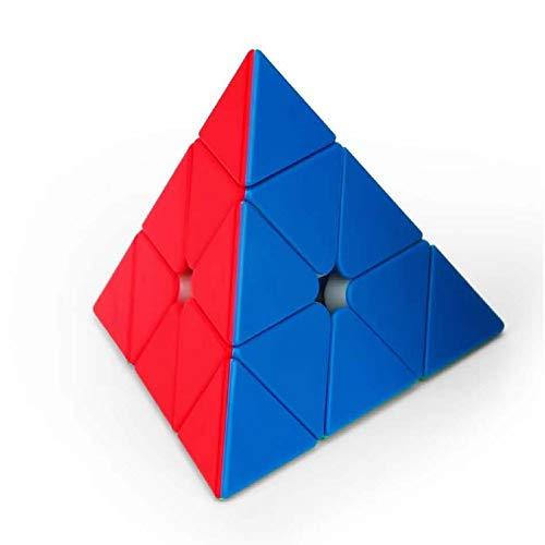 MoYu MoFangJiaoShi Cubing Classroom MeiLong 3x3 Pyraminx M Triangle Pyramid Magic Cube M Version Cube sin Etiqueta Stickerless