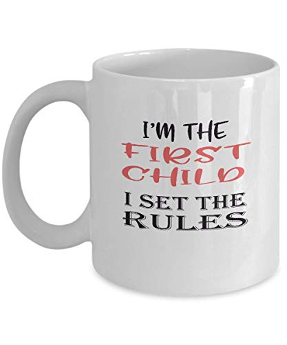 Taza de cerámica con texto en inglés 'First Chile' con texto en inglés 'I Set The Rules'