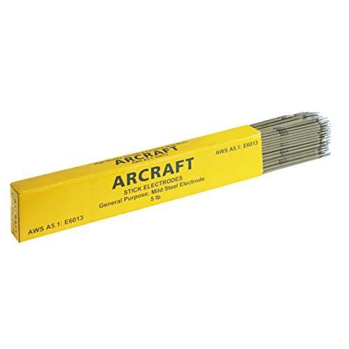 ARCRAFT Welding Rod, E6013 Welding Electrode 1/8-Inch, 14-Inch Stick, 5-Pound