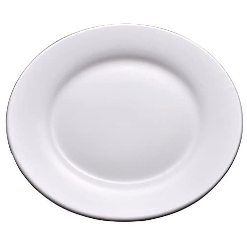ELLENS Platos de cerámica Plato Vajilla de Porcelana Blanca, Plato de Cena de Estilo Occidental, Plato de Postre Plato de Pastel de vajilla (6/7/8/9/10 Pulgadas)