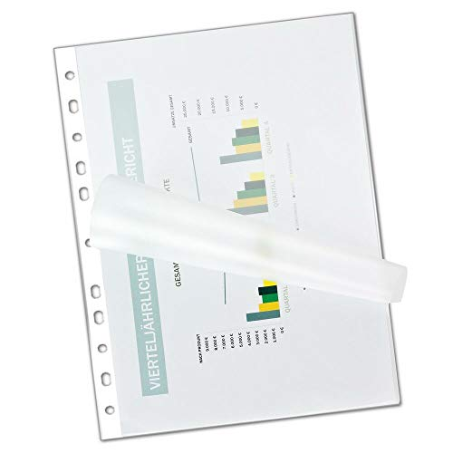 1-PACK Laminierfolien DIN A4+ mit Abheftrand/Filex, 200 Stück
