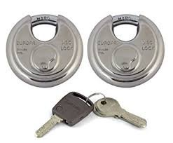 Europa Combo of Stainless Steel Twin Lock with 4 Keys (90 mm)
