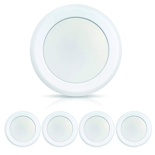 ECOELER 6in Dimmable LED Disk Light, 4Pack 15W 3000K Warm White, 4/6 J-Box Low Profile Flush Mount Recessed Retrofit Ceiling Lights Fixture for Home Improved, Energy Star & UL-Listed Approved