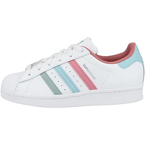 adidas Superstar J, Zapatillas Deportivas, FTWR White Hazy Rose Hazy Sky, 38 2/3 EU
