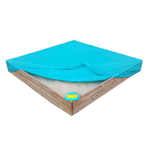 Arenero con cubierta de lona, de madera cuadrada muy resistente, marca MASGAMES