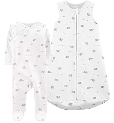 Carter's Baby 2-Pack Cotton Sleepbags (Pink Clouds, Small)