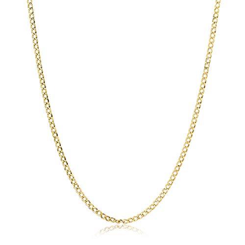 Miore Kette Damen Panzer Halskette Gelbgold 14 Karat / 585 Gold, Länge 42 cm Schmuck