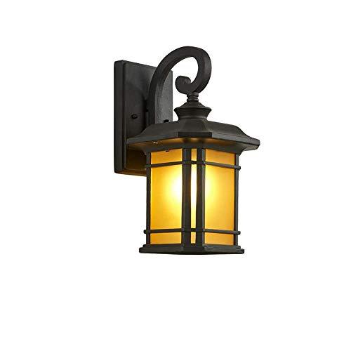 Chuen Lung Wandlamp, retro LED-wandlamp, wandlamp, buitenlamp, waterdicht, zwart (zonder lampen)