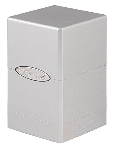 Ultra Pro- Deck Box Satin Tower: Metallic Silver by (UltraPro 84850)