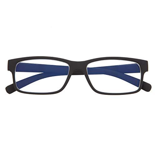 mejores Gafas Protectoras para Ordenador Gafas de Presbicia con Filtro Anti Luz Azul para Ordenador. Gafas Graduadas de Lectura para Hombre y Mujer con Cristales Anti-reflejantes. Graphite +2.0 – THYSSEN