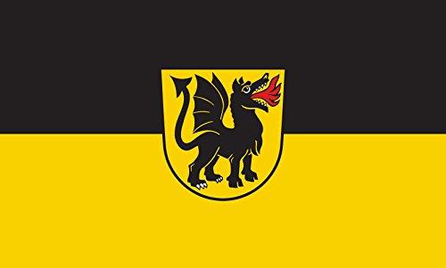 Unbekannt magFlags Tisch-Fahne/Tisch-Flagge: Wurmlingen 15x25cm inkl. Tisch-Ständer