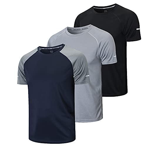 frueo 3 Pack Tee Shirt Homme Tee Shirt Running Homme...