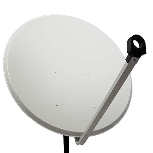 PremiumX PXA100 Satellitenschüssel 100cm ALU Hellgrau Satellitenantenne SAT Spiegel mit LNB Tragarm und Masthalterung