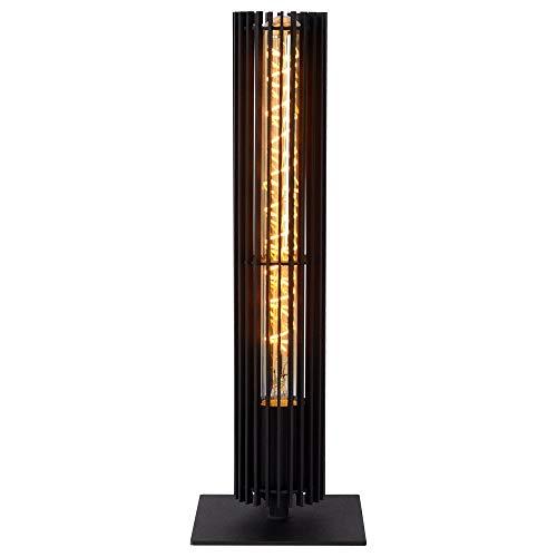 Moderne Tischlampe, Tisch-leuchte & Nachttischlampe E27 Wohnzimmer Flur Schwarz Metall