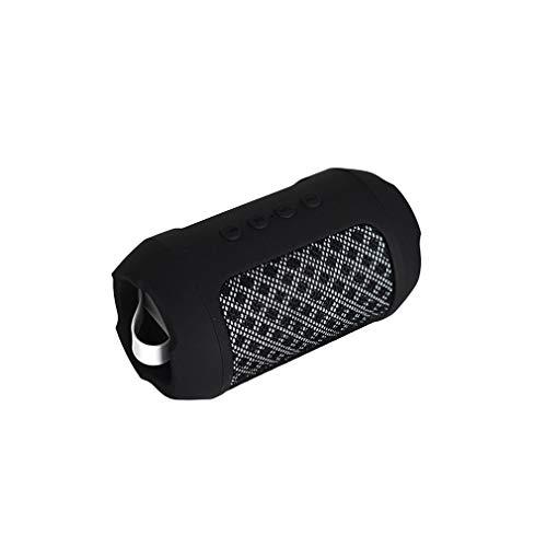 DKee. Schwarz Bluetooth drahtlose tragbare Stereo-Lautsprecher-Box-2 Bluetooth 4.2 HD Tonqualität Wiedergabe