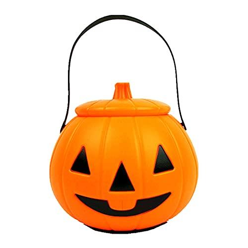 Lalaluka Farolillo portátil de calabaza para Halloween, mini lámpara de aceite con barra de plástico, luz de bruja para niños, niñas, decoración de fiesta, b, Talla única
