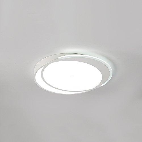 GPZ-iluminación de techo Luces de techo LED Ultrafino 12W Day Blanco Modernas Luces de Techo Lámpara Cuadrada Brillante Para Cocina Sala de estar de la Oficina Dormitorio Comedor [Clase energética A +