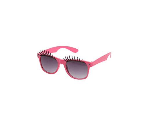 KODORIA False Eyelashes Funny Shape Glasses Novelty Sunglasses Funny Eyeglasses Party Glass Costume Party Accessories - Pink, Medium