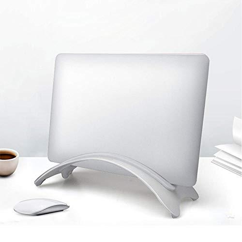 COCOCO Laptopständer Aufgestellter Halter Platzsparendes Desktop-Lagerregal Laptop-Ständer Aus Aluminiumlegierung Mit Vertikaler Tragbarer Basis Für MacBook Pro Air-1_Splitterweiß 2,4 cm