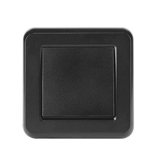 Interruptor de luz 1gang 3way 16a 250V Nuevo panel de PC retardante de llama Blanco 82mm * 82mm Interruptor interruptor Switch EU-negro