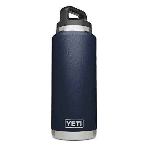 YETI Rambler 36 oz Vacuum Insulated Stainless Steel Bottle with TripleHaul Cap, Navy