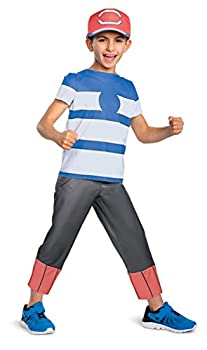 Disguise Ash Ketchum Alolan Pokemon Boys  Costume Multi M  7-8