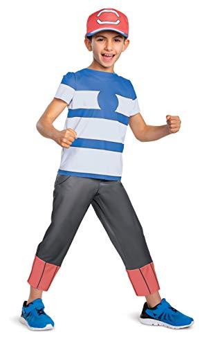 Disguise Ash Ketchum Alolan Pokemon Boys' Costume Multi, M (7-8)