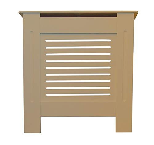 Jack Stonehouse Radiator Cover Modern Horizontal Slat MDF Wood Cabinet, Unfinished Mini