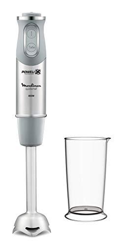 Moulinex DD650D Quickchef1in1, Mixer ad Immersione, Piede in Acciaio, Tecnologia Powelix, 10 velocità W, 800 milliliters, Inossidabile