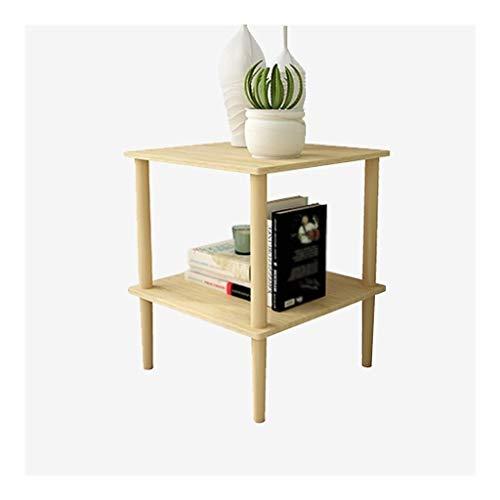 Yyqx Mesita de noche Mesa auxiliar de madera maciza Mesas de café para sala de estar Mesas laterales de material resistente Triángulo duradero Mesita de noche