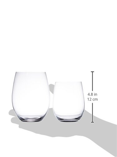 Riedel O Wine Tumbler Cabernet/Merlot and Viognier/Chardonnay, Set of 4, Clear -