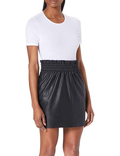 Only ONLPINZON Faux Leather PB Skirt CC PNT Rock, Black, XS para Mujer