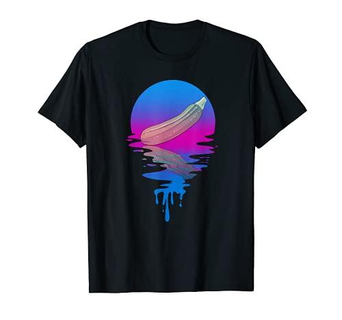 Calabacn Vintage Retro Sunset Camiseta