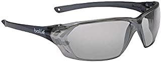Bolle Safety 253-PR-40059 Prism Safety Eyewear with Shiny Black Rimless Frame and Silver Mirror Anti-Scratch/Anti-Fog Lens