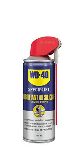 WD-40 Specialist • Lubrifiant Au Silicone • Spray Double Position • Formule Propre • Isolation contre l'humidité • Comptatible tous métaux, plastiques, caoutchoucs et bois • 400Ml