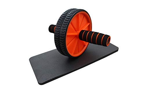 HH Home Hut Exercise AB Wheel Roller Abdominal Exercise Abs Knee Mat Pad...